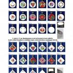 Orvosi acél keretes tűzzománc medálok 1,7cm és 2,1cm-es méretben (4)